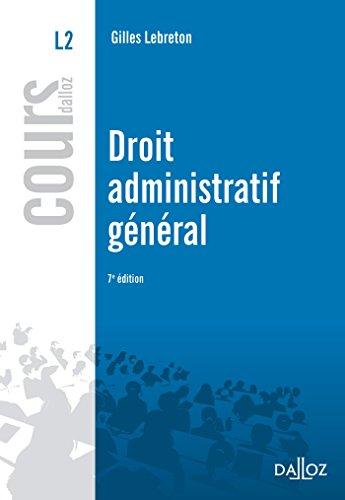 Droit administratif général - 7e éd.