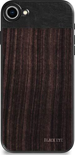 BLACK EYE Photo Case für Apple iPhone 7/8 (Rückseite aus hochwertigem Sandelholz, spezielles Befestigungssystem für alle Objektive, Gummierte Ecken, Handschlaufe inklusive) - IP001
