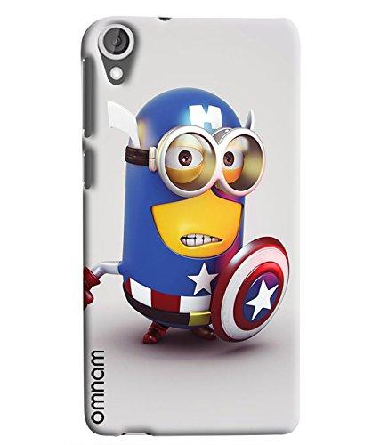 Omnam Minion In Avenger Dress Printed Designer Back Cover Case For HTC Desire 820
