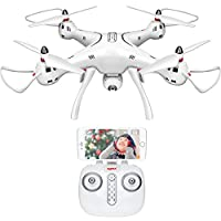 Drone With 720P HD Upgraded Rotatable Camera DoDoeleph Syma X8PRO GPRS RC Quadcopter One Key Return Home Auto Hover Mode White from SYMA