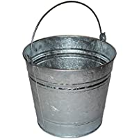 Cubo de metal galvanizado de 10 litros - uso exterior e interior