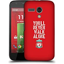 Official Liverpool Football Club Stencil Red Crest You'll Never Walk Alone Hard Back Case for Motorola Moto G (1st Gen)