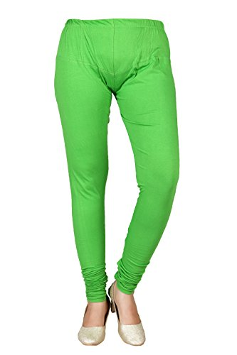 Fashion Manhattan Cotton Green Solid Free Size Leggings For Women