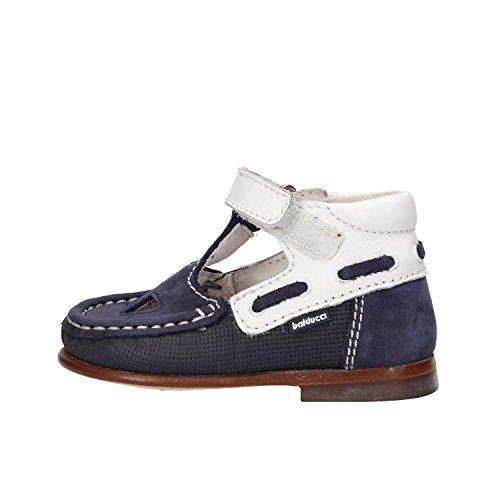 BALDUCCI sandali bambino blu pelle scamosciata bianco pelle AF354 (19 EU)