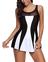 510d40b291f 4.5 out of 5 stars 2 · tengweng Women Ladies Polka Bikini Dress Plus Size  Swimwear Retro Beachwear One Piece Swimsuit Boyshort