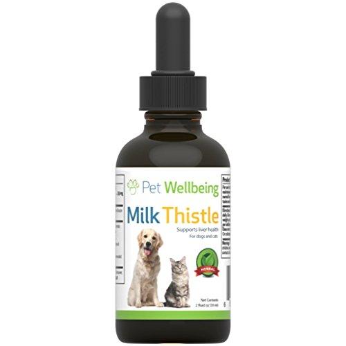 Pet Wellbeing - Cardo De Leche para Perros - Glicerina Natural Basado Cardo De Leche para Perros - 2 Oz (59 Mililitros)