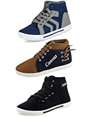 Chevit Men's Synthetic and Canvas Sneakers  Loafers