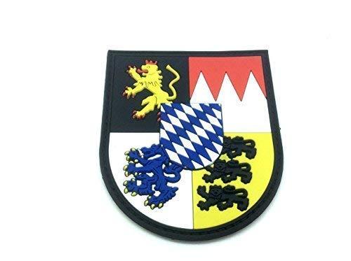 Patch Nation Bavarian Bayern Bayerisch München Nürnberg Wappen Deutsch Kamm PVC Klett Emblem Abzeichen Wappen-patches