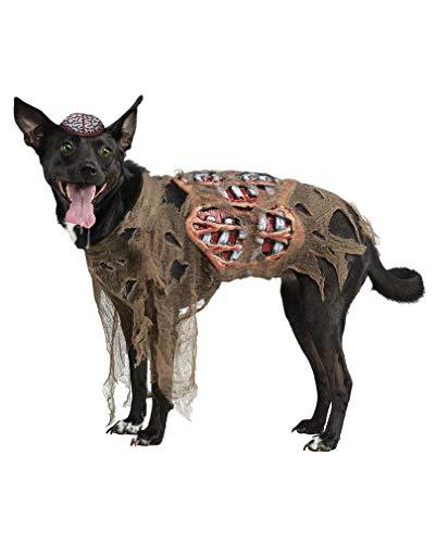 Horror-Shop Zombie Hunde Kostüm für Halloween L