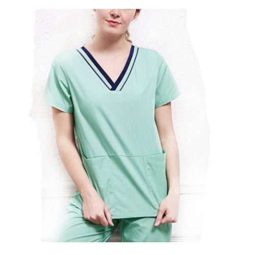 CX ECO Medizinische Uniformen V-Ausschnitt Peeling-Oberteile Krankenschwester-Peeling-Oberteil für Frauen Gesundheitswesen-Kleidung Krankenhaus-Arbeitskleidung Anti-Falten-Hosen (Krankenschwestern Uniform-oberteile)
