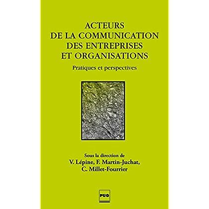 Acteurs de la communication des entreprises et des organisations: Pratiques et perspectives (Communication, Médias et société)