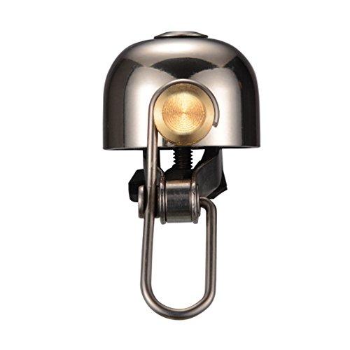 ROCKBROS Fahrradklingel Handklingel Lenker Klassisch Klingel Retro Vintage Horn Retro Bell (Hell Silber)