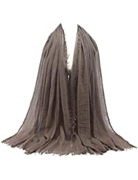 Echarpe Femme Hijab, Châle BZLine Maxi Crinkle Soft Islam Viscose Musulmane  Mesdames Paris fil Écharpe d5c6ad552b2