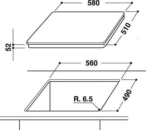 Bauknecht CTAI 9640 IN Induktions Kochfeld / 4 Heizelemente / 60 cm / Simmer Funktion / Edelstahl