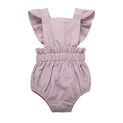 Julhold Summer Newborn Baby Girls Leisure Ruffled Romper Bodysuit Playsuit Outfits Clothes Comfortable Summer 2019New Childrens Place Jeans