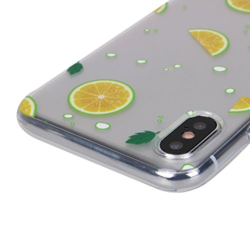 iPhone X Hülle, Asnlove Case Silikon TPU Schale Transparent Durchsichtig [Ultra Dünn] Klar Weiche Bumper-Style Handyhülle Premium Schutzhülle für iPhone X / iPhone 10 5.8 Zoll 2017 Case Cover - Crysta Style-12