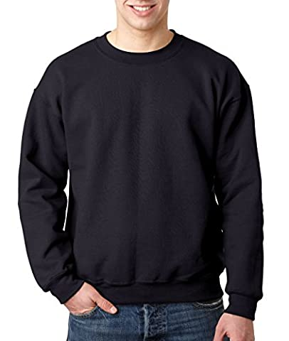 Gildan Men's 50/50 Adult Crewneck Sweat Sweatshirt, Black, Large