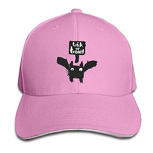 Wfispiy Men's Athletic Baseball Fitted Cap Hat Halloween Bat Durable Baseball Cap Hats Adjustable Peaked Trucker Cap ABCDE13634