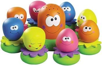 Tomy Wasserspiel für Kinder Okto Plantschis mehrfarbig - hochwertiges Kleinkindspielzeug - Spielzeug für die Badewanne - ab 12 Monate