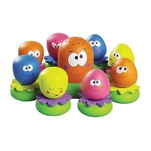 """TOMY Wasserspiel für Kinder """"Okto Plantschis"""" mehrfarbig – hochwertiges Kleinkindspielzeug – Spielzeug für die Badewanne – ab 12 Monate"""