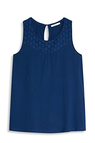 edc by ESPRIT Damen Top Blau (Ink 415)