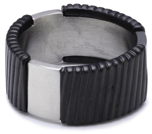 Esprit Ring Edelstahl flush black