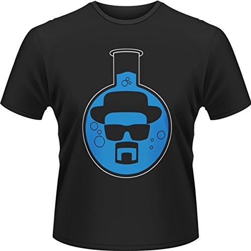 Playlogic International(World) - Breaking Bad Round Bottom Flask, T-shirt da uomo,  manica corta, collo a listino, blu(blue), S