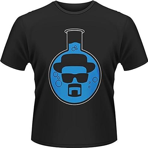 Playlogic International(World) - Breaking Bad Round Bottom Flask, T-shirt da uomo,  manica corta, collo a listino