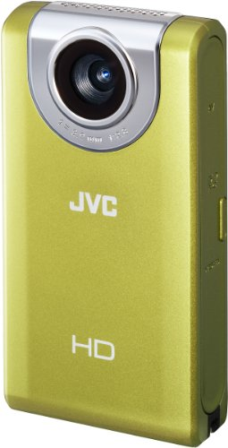 JVC GC-FM2YEU Full HD Pocket Camcorder (SD/SDHC/SDXC Slot, 5 MP, 4-Fach digitaler Zoom, 7,6 cm (3 Zoll) Display) gelb