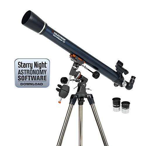 Celestron AstroMaster 70EQ 45x - Telescopio 91