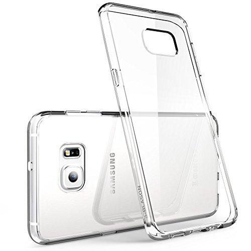 Cover samsung galaxy s6 edge, ivoler cover samsung galaxy s6 edge silicone case molle di tpu trasparente sottile custodia per samsung galaxy s6 edge