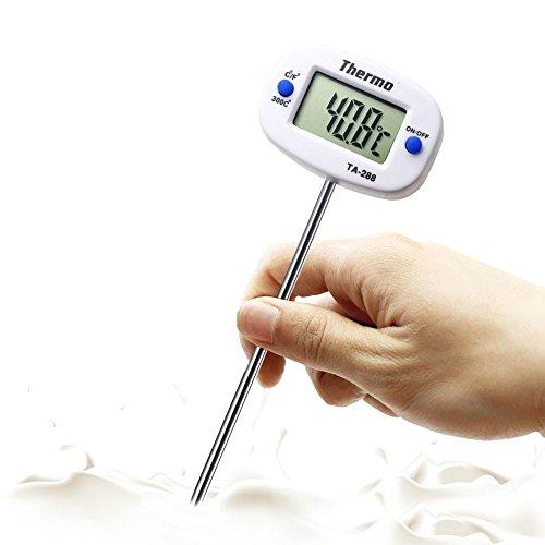 Drehbares digitales Lebensmittelthermometer, Grill, Fleisch, Schokolade, Ofen, Milch, Wasser, Öl, Kochen, Küche, Thermometer, Elektronische Sonde -