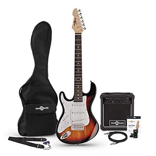 Guitarra Electrica LA 3/4 Zurda + Paquete de Amplificador de 10 W Sunburst