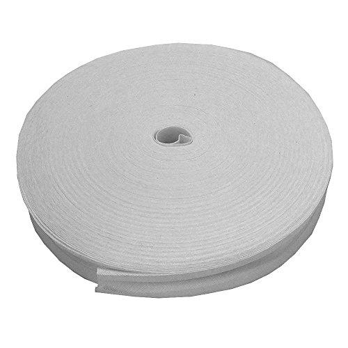 16mm sbieco nastro trim 100% cotone-bianco-5m