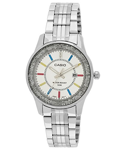 412GpdCow7L - Casio LTP 1358D 7AVDF A806 Enticer Silver watch