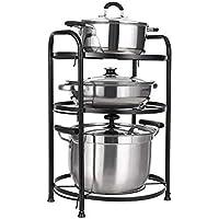 Usmoscat 3 Niveaux Porte-casseroles, Support de Rangement de Cuisine Multi-Fonctionnel, pour Les Ustensiles de Cuisines…