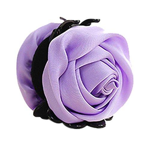 un Belles Clips Rose Fleur Cheveux Ponytail clip, violet clair