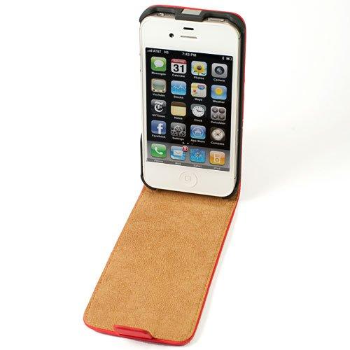 FLIP HÜLLE FÜR IPHONE 5 UND 5S - HANDY COVER CASE - BLAU Rot