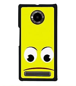 PrintVisa Emoji Face Expression High Gloss Designer Back Case Cover for YU Yuphoria :: YU Yuphoria YU5010