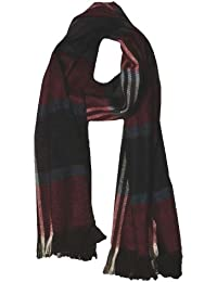 Navy/Red Mens Checked Soft Feel Fashion Winter Scarf