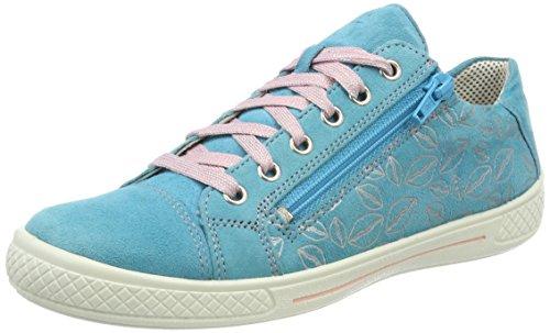 Superfit Mädchen Tensy Sneaker, (Türkis Kombi), 26 EU