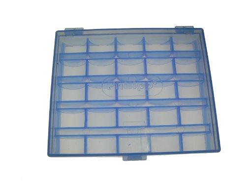 Kunststoff Spulenbox Platz für 25 Unterfadenspulen Farbe Blau