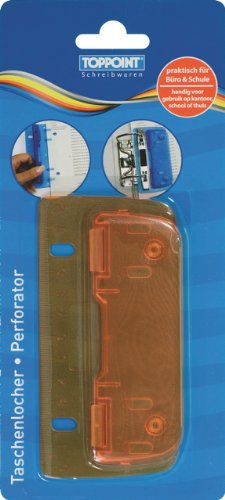Taschenlocher Mini Locher mit Linealfunktion orange