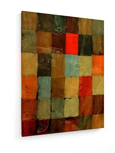 Paul Klee - Harmonie im Blau = orange - 1923-60x80 cm - Leinwandbild auf Keilrahmen - Wand-Bild - Kunst, Gemälde, Foto, Bild auf Leinwand - Alte Meister/Museum