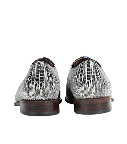 Floris van Bommel , Chaussures de ville à lacets pour homme 00 black lizard