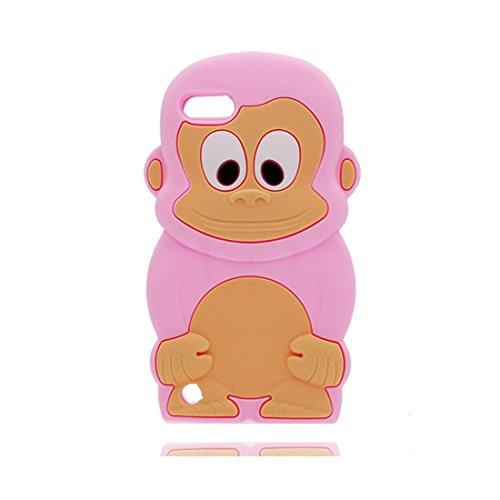 iPod Touch 5 Hülle, iPod Touch 5 handyhülle | Extrem weicher TPU-Duty-Schutz + Anti-Scratch-Rückenschale Shockproof TPU Stoßstange | 3D Cartoon Case Affe