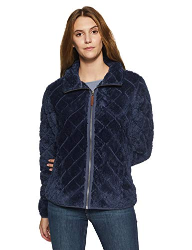 Columbia Fleecejacke für Damen, Fire Side Sherpa Full Zip, Polyester, Blau (Nocturnal), Gr. M, 1684381 Columbia Full Zip Sweater