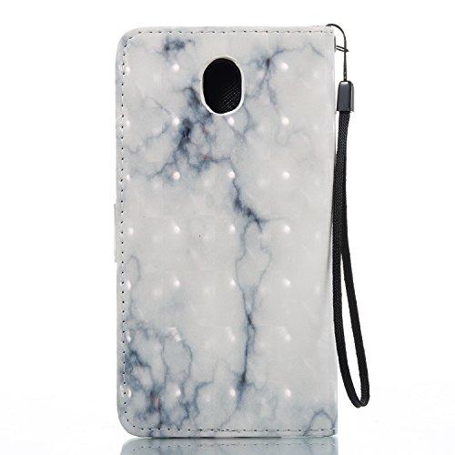 Linvei Samsung Galaxy J7(2017)(Version européenne)Coque,[Conception de Motif Coloré][PU Cuir Housse][Portefeuille Flip][Stand Soutien/Card Slot /Fermeture Magnétique] - Plante tropicale verte Gris
