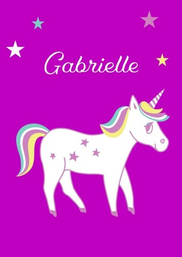 Gabrielle: Unicorn Notebook/Coloring Book/Diary - DIN A4 - blank