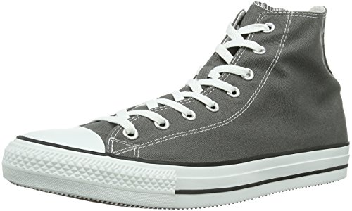 Converse All Star Hi Canvas Sneaker, Unisex Adulto, Grigio Scuro (Charcoal), 44